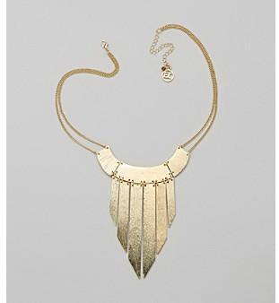 Erica Lyons® Goldtone Bib Pendant Necklace