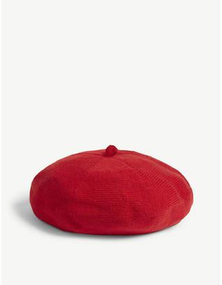 Johnstons Jersey Stitch cashmere beret