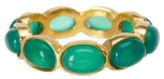 Forever Creations USA Inc. 14K Yellow Gold Vermeil Emerald Ring