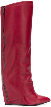 The Seller zipped knee high boots