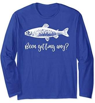 Funny Salmon Fishing Been Getting Any Fishing Gift Shirt