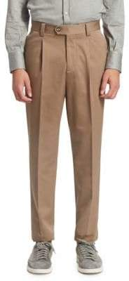 Brunello Cucinelli Single Pleat Cotton Pants