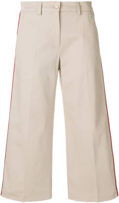 Pinko side stripe cropped trousers