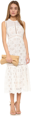 Rebecca Taylor Sleeveless Lace Crochet Dress $875 thestylecure.com