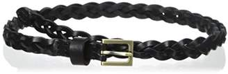 elise m. Women's Lawrence Leather Braided Super Skinny Belt