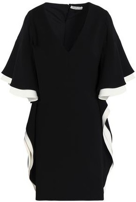 Halston Ruffled Crepe Mini Dress