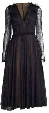Jason Wu Sheer Point D'Esprit Cocktail Dress