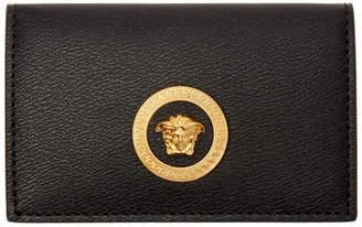 Versace Black Medusa Bifold Card Holder
