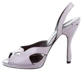 Rochas Distressed Slingback Sandals