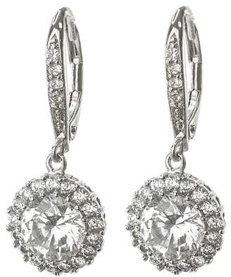 Kenneth Jay Lane CZ By CZ Round Drop Earrings