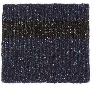 Marni Knitted Neck Warmer - Mens - Black Blue