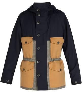 Barena VENEZIA Contrast-panelled virgin wool hooded jacket