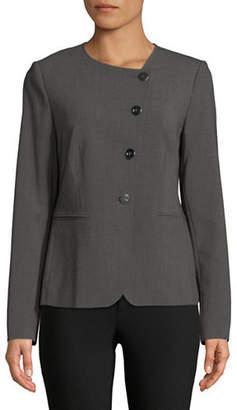 Donna Karan Asymmetrical Buttoned Blazer