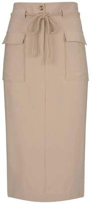 2ec9f79a2a Mint Velvet Fawn Rope Belted Pencil Skirt