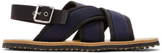 Marni Navy and Black Nastro Sandals