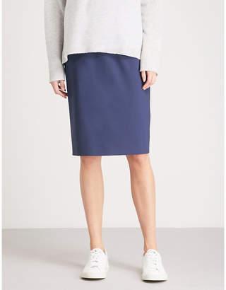 Theory Hemdall stretch-wool pencil skirt