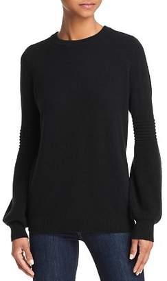 Aqua Balloon-Sleeve Cashmere Sweater - 100% Exclusive