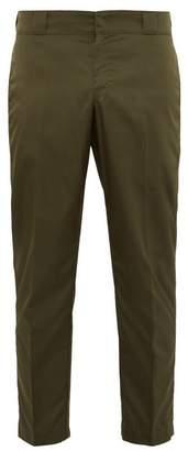 Prada Cropped Nylon Tailored Trousers - Mens - Green