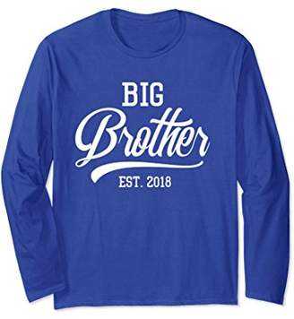 Big Brother est 2018 Long Sleeve Tee for Promoted to Big Bro