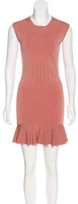 Torn By Ronny Kobo Textured Knit Mini Dress