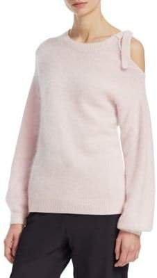 Emporio Armani Cold-Shoulder Mohair Sweater