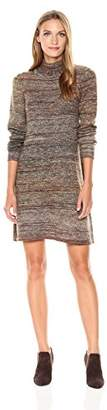 Max Studio Women's Turtle Neck Ombre Sweater Long Sleeve Dress