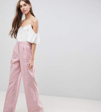 Asos Tall TALL Tailored Clean Linen Wide Leg Pants