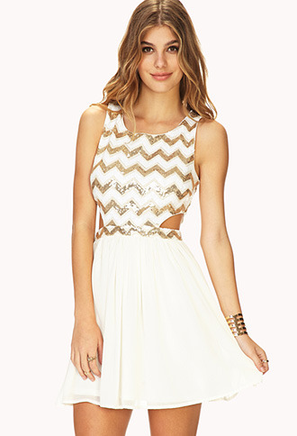 Forever 21 Showstopper Sequin Cutout Dress