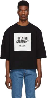 Opening Ceremony Black Box Logo Cut-Off T-Shirt
