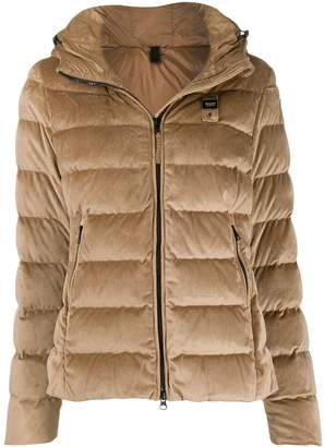 Blauer velvet hooded jacket