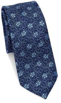 Saks Fifth Avenue MODERN Floral Silk Tie