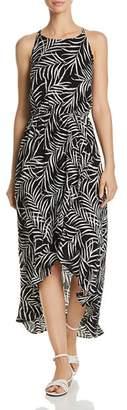 Aqua Palm Leaf High/Low Dress - 100% Exclusive