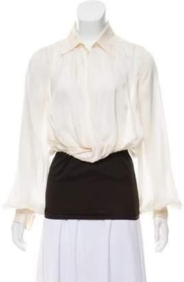 Jean Paul Gaultier Silk Button-Up Top