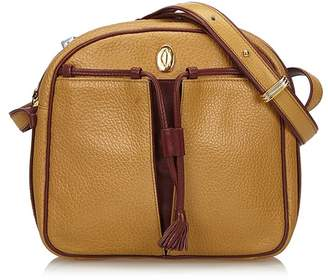 Cartier Vintage Leather Tasseled Must De Crossbody Bag
