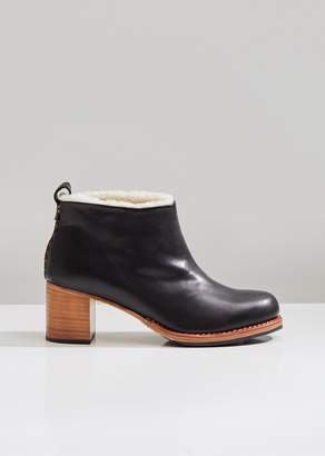 Feit Braided Shearling Mid Heel Boots