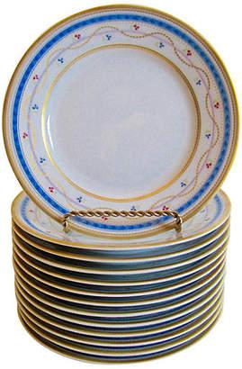 One Kings Lane Vintage Faberge Limoges Plates - Set of 13