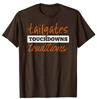 Dark Orange Tailgates Touchdowns Traditions Football Shirt