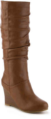Journee Collection Hana Wide Calf Wedge Boot - Women's
