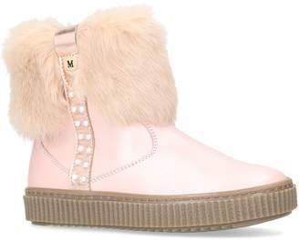 Antigua Missouri Fur Trim Ankle Boots