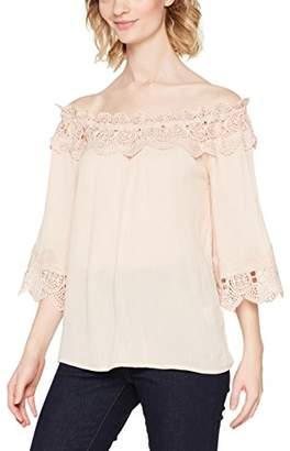 Bea Yuk Mui Cream Women's Lace Blouse