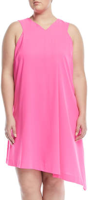 Rachel Roy Plus High-Neck Sleeveless A-Line Dress, Plus Size
