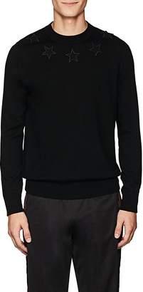 Givenchy Men's Star-Appliquéd Wool Sweater