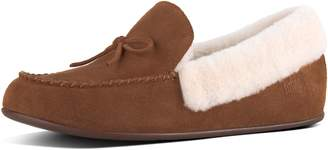 09fc49958b9d3 FitFlop Clara Shearling Suede Moccasin Slippers