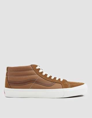 Vans Vault By OG Sk8-Mid Suede/Canvas Sneaker in Tobacco Brown