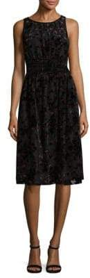 Max Studio Velvet Knee-Length Dress