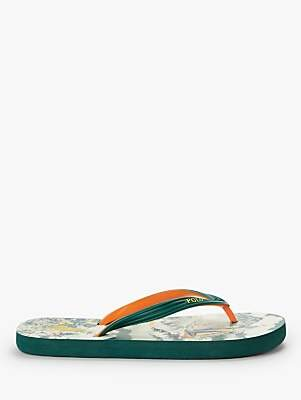 91f91c622 at John Lewis and Partners · Ralph Lauren Polo Boat Print Flip Flops