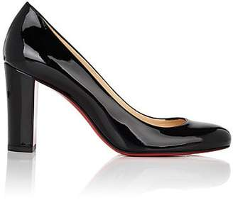 Christian Louboutin Women's Lady Gena Patent Leather Pumps - Black