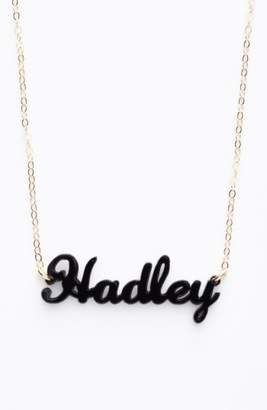 Moon and Lola AN TEST 2 'Script Font' Personalized Nameplate Pendant Necklace