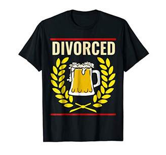Abercrombie & Fitch Funny Divorce Shirts Divorced BEER DRINKING Shirt