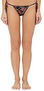 Dolce & Gabbana WOMEN'S ROSE-PRINT STRING BIKINI BOTTOM-ROSE PRINT SIZE 4